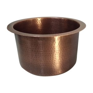 Round Copper Bar Sink 17 x 8 inch