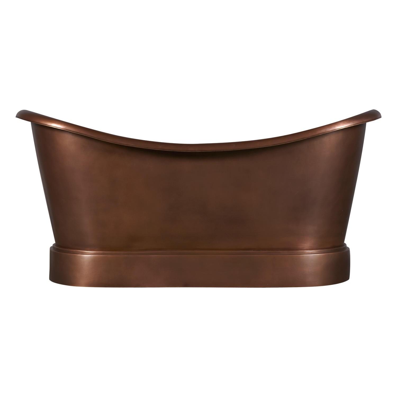 Smooth Double Slipper Copper Bathtub Copper Bathtubs