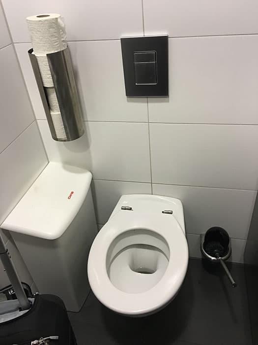 Airport Bathroom Toilet Bowl Brush!