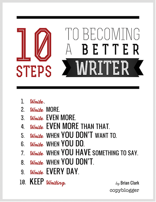 10 Steps to Becoming a Better Writer
