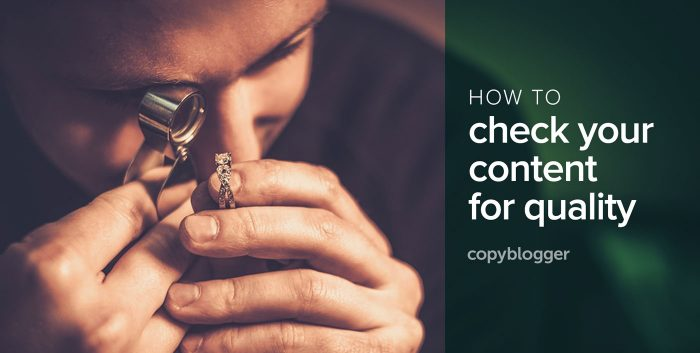 how to check your content for quality
