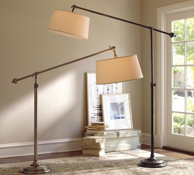 Elegant Pottery Barn Chelsea Sectional Floor Lamp