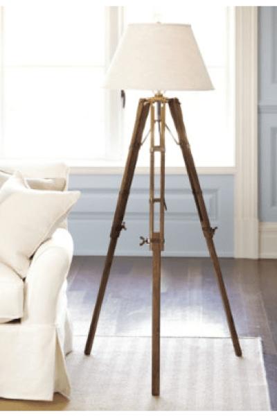 Restoration Hardware Surveyor\'s Tripod Floor Lamp - copycatchic