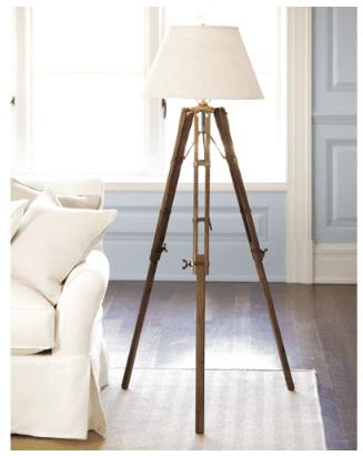 Vintage Restoration Hardware Royal Marine Tripod Lamp