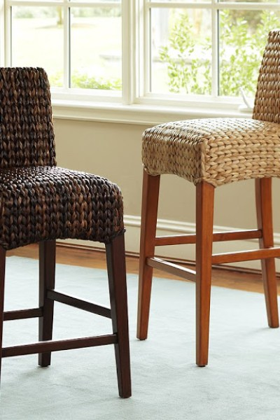Pottery Barn Seagrass Barstool - Pottery Barn Seagrass Bench - Copycatchic