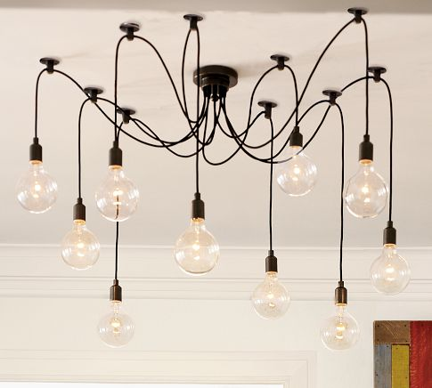 Ideal Pottery Barn Edison Chandelier