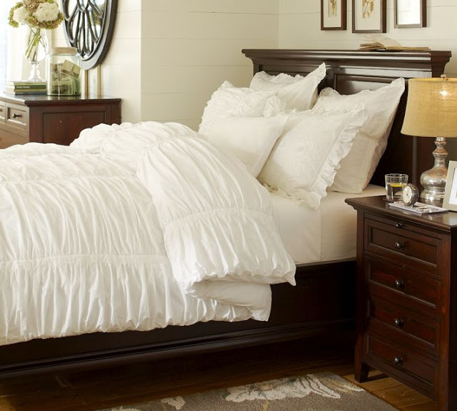 New Pottery Barn Hadley Ruched Duvet