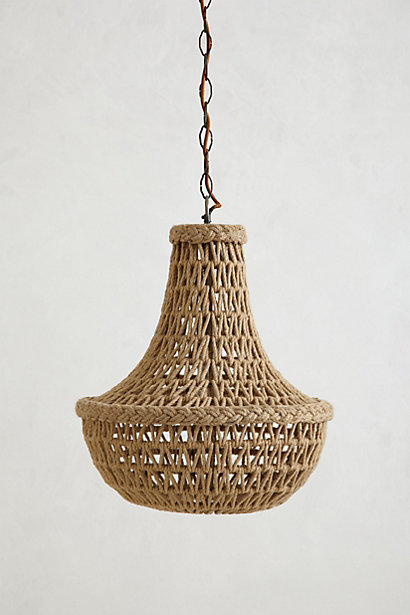 Nice Anthropologie Handwoven Macrame Chandelier