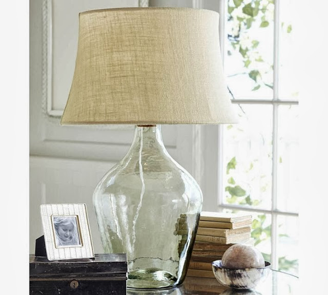 Perfect Pottery Barn Clift Glass Table Lamp