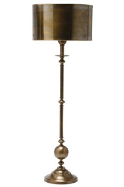 Layla grayce arteriors vance antique brass candlestick lamp