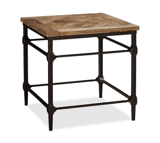 Pottery Barn Parquet Side Table