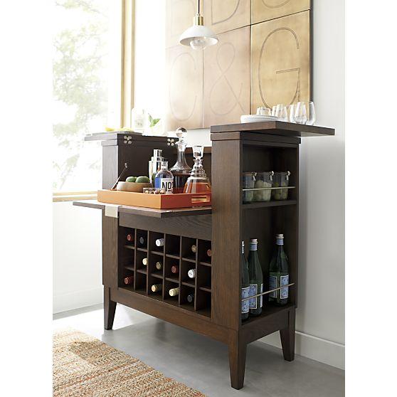 Genial Crate U0026 Barrel Parker Spirits Bourbon Cabinet