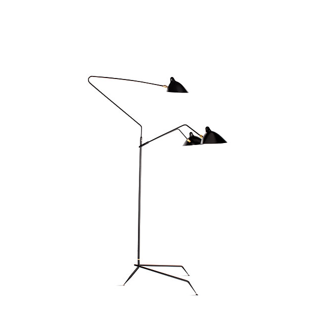 design within reach serge mouille threearm floor lamp