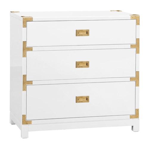 Zinc Door Bungalow 5 Tansu 3 Drawer White Side Table