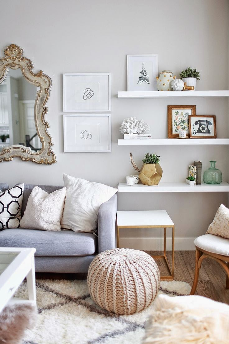 Copy Cat Chic Room Redo | Art Filled Living Room