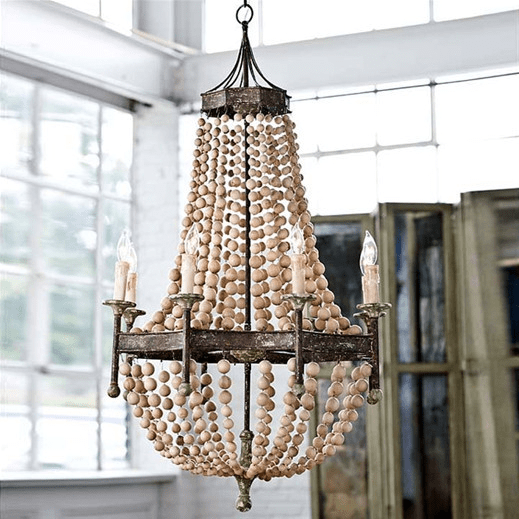 Spectacular Restoration Warehouse Bead Chandelier