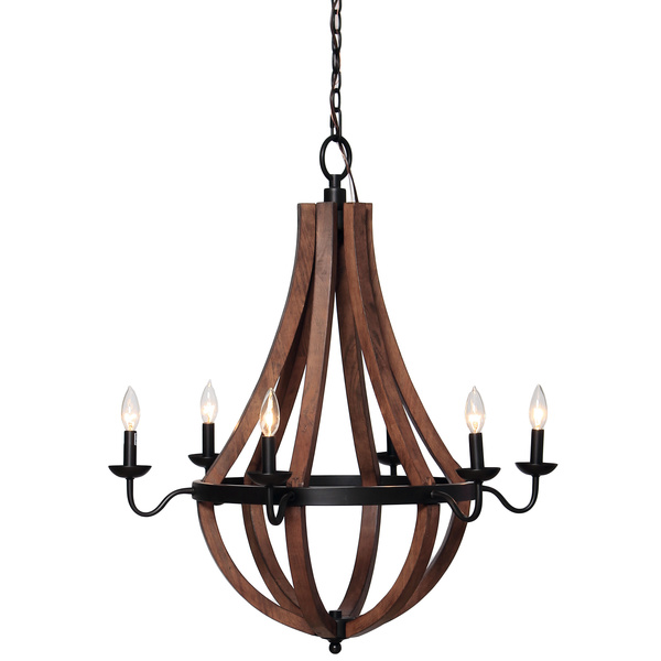 Vineyard Oil Rubbed Bronze 6 Light Chandelier