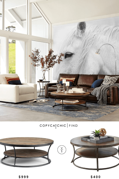 Daily Find Pottery Barn Parkview Reclaimed Wood Coffee Table Copycatchic
