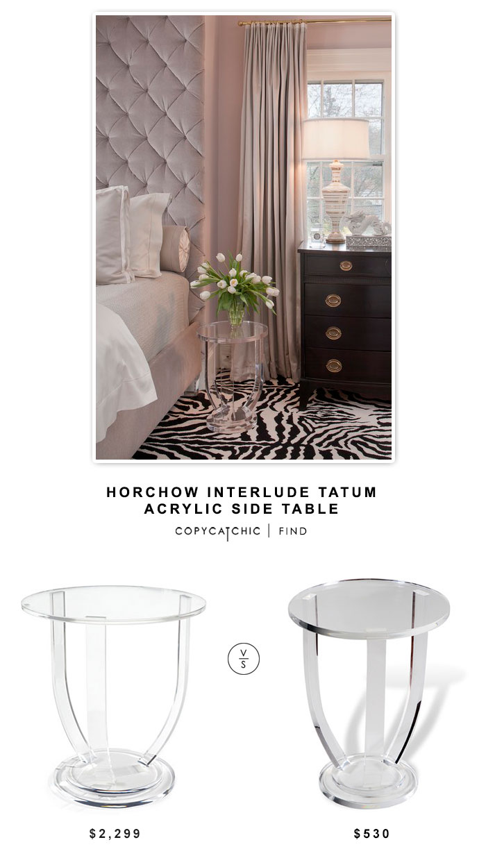 horchow interlude tatum acrylic side table
