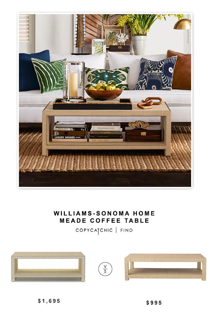 williams sonoma home meade coffee table