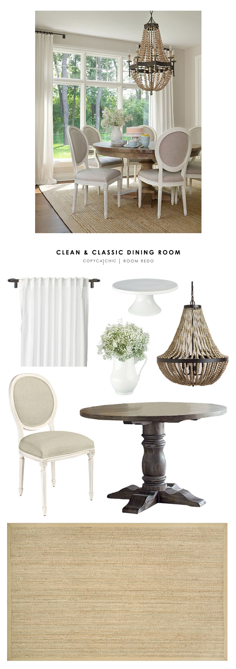 Copy Cat Chic Room Redo | Clean And Classic Dining Room Part 86