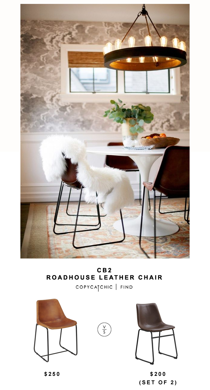 CB2 Roadhouse Leather Chair Copycatchic