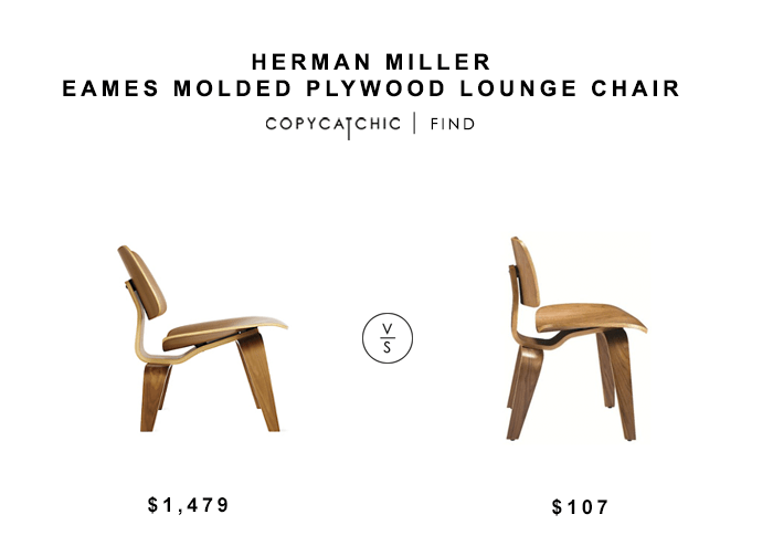 Herman Miller Eames Molded Plywood Lounge Chair - copycatchic