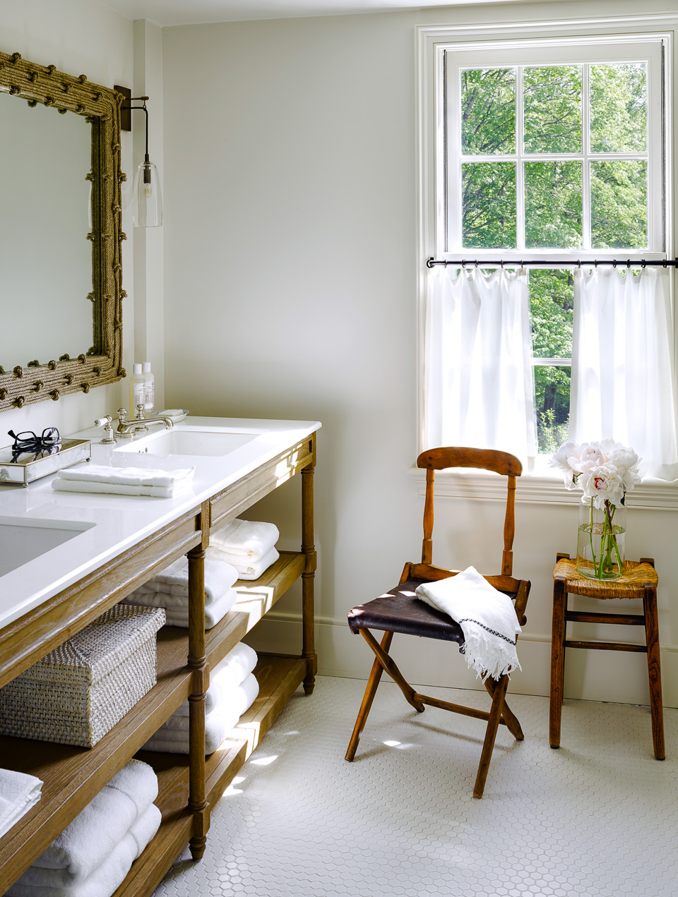 Perfect Daily Find Restoration Hardware Weathered Oak Double Washstand