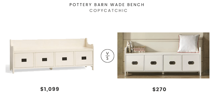 daily find pottery barn wade bench