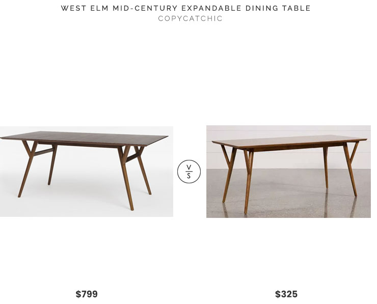 west elm mid century expandable dining