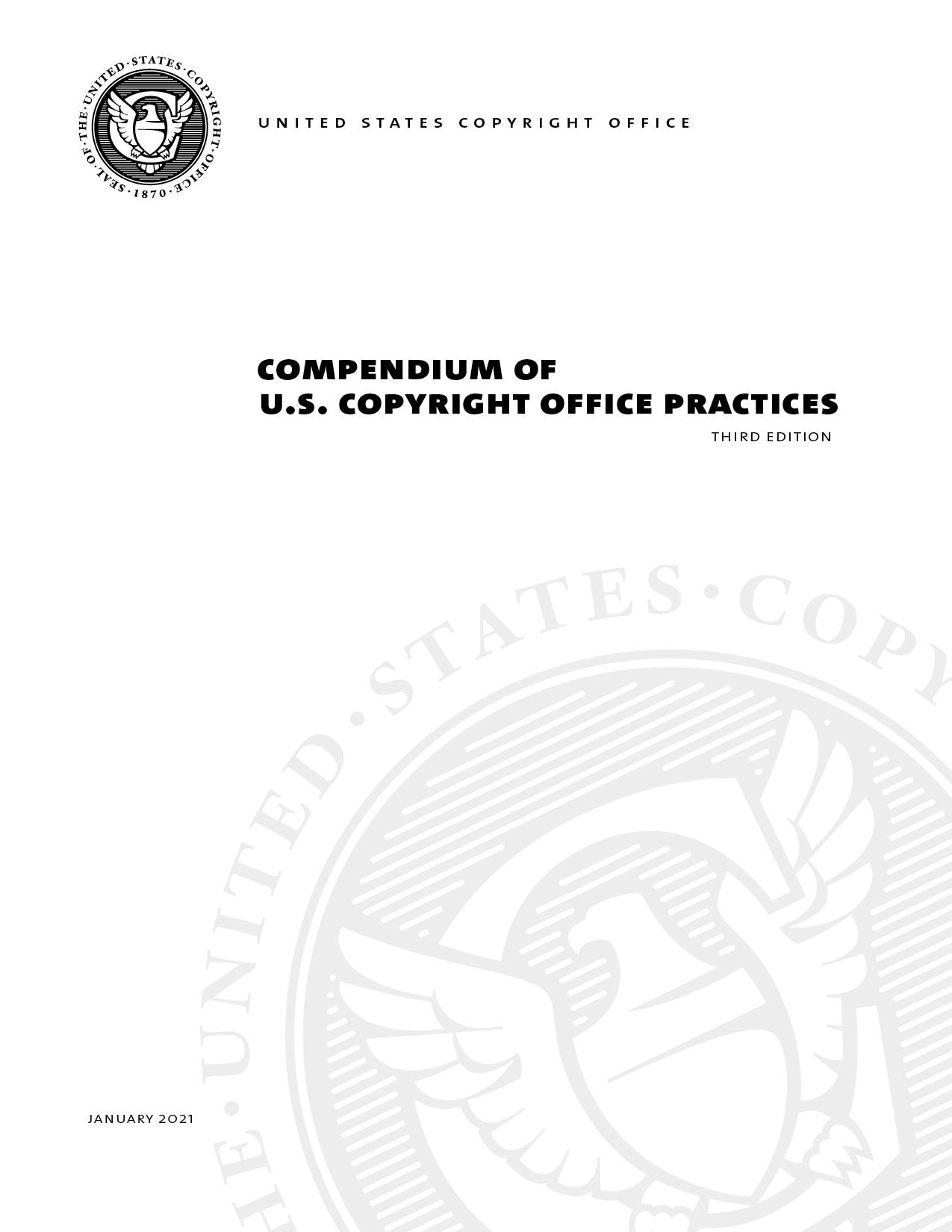 Compendium Of U S Copyright Office Practices