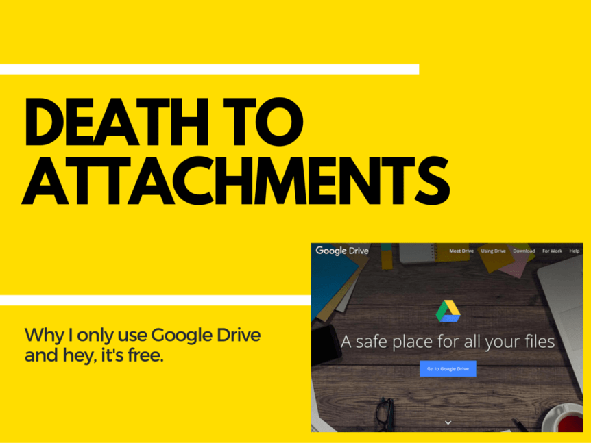 death to attachments google drive