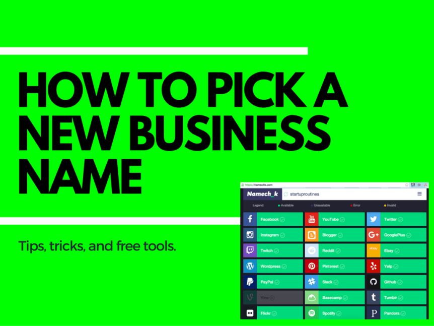 How to Pick a Business Name: Tips, Tricks, and Tools [free]