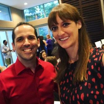 laura and davide at book bestselling launch