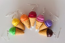 boucles glace fimo