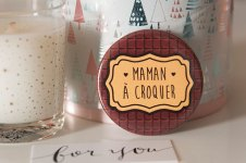 badge maman a croquer