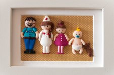 cadre famille personnage fimo