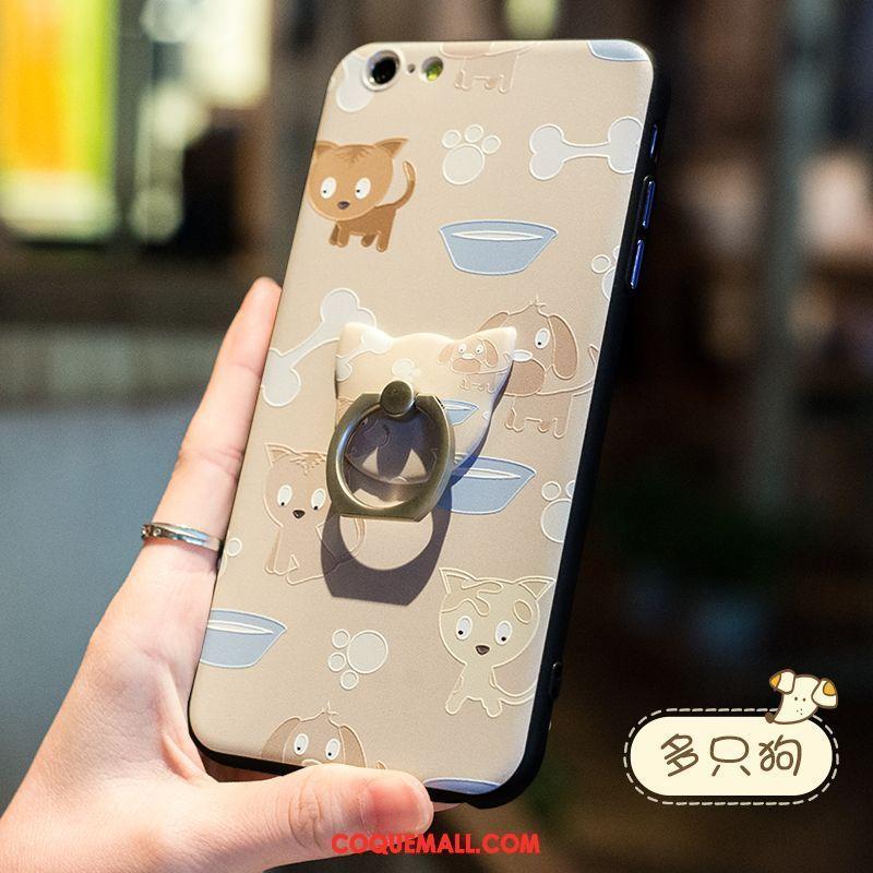 etui iphone 6 6s incassable protection delave en daim coque iphone 6 6s lapin anneau beige pas cher
