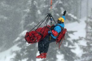 Coquitlam SAR Member Michael Coyle using HETS during the Vancouver 2010 Olympics