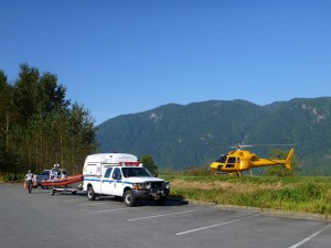 Coq 2, boat and Talon Helicopters