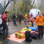 The long line rescue gear laid out