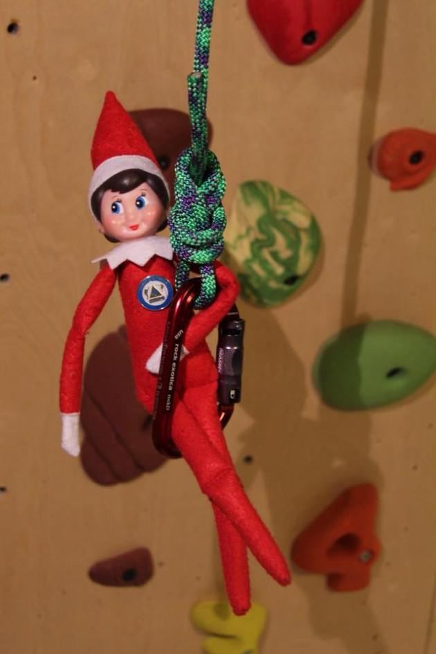 "Introducing our newest team member ""Prusik,"" the Coquitlam SAR elf who will be joining the team for the holiday season. #SARelf"