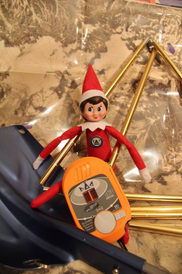 Elves are experts at winter mountain travel. Before you head out this winter, make sure you possess avalanche travel skills, check the avalanche forecast & carry avalanche companion rescue equipment. #SARelf