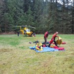 Rigging the helicopter for rescue