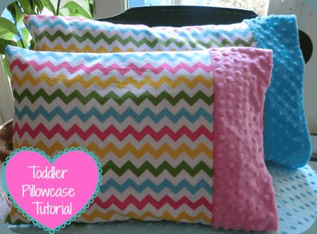 minky toddler pillowcase tutorial