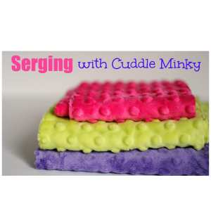 how to serge minky fabric