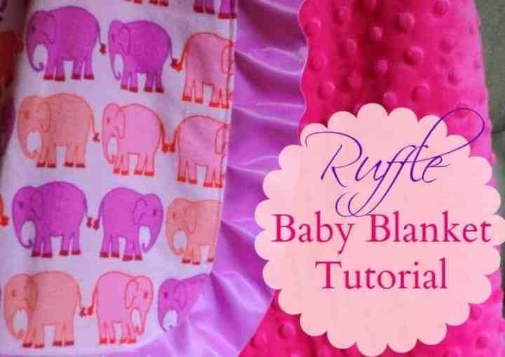 diy ruffle baby blanket tutorial minky baby blanket tutorial