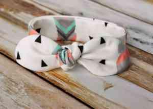 Knot Bow Headband Pattern and Tutorial – Easy DIY baby headband pattern free sewing