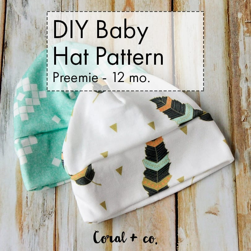 Diy Baby Hat Sewing Pattern And Tutorial Knit Baby Hat