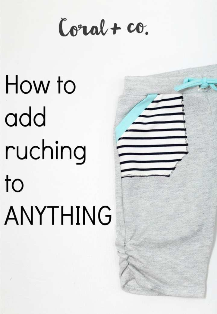 how-to-sew-ruching-to-anything-tutorial-shorts-pants